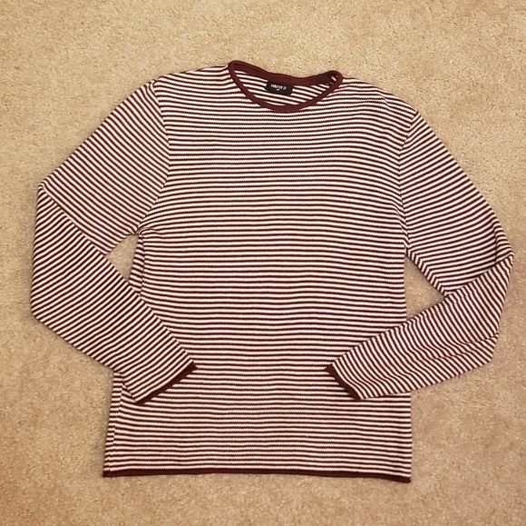 Forever 21 Other - Burgendy Striped Sweater | M | Forever 21